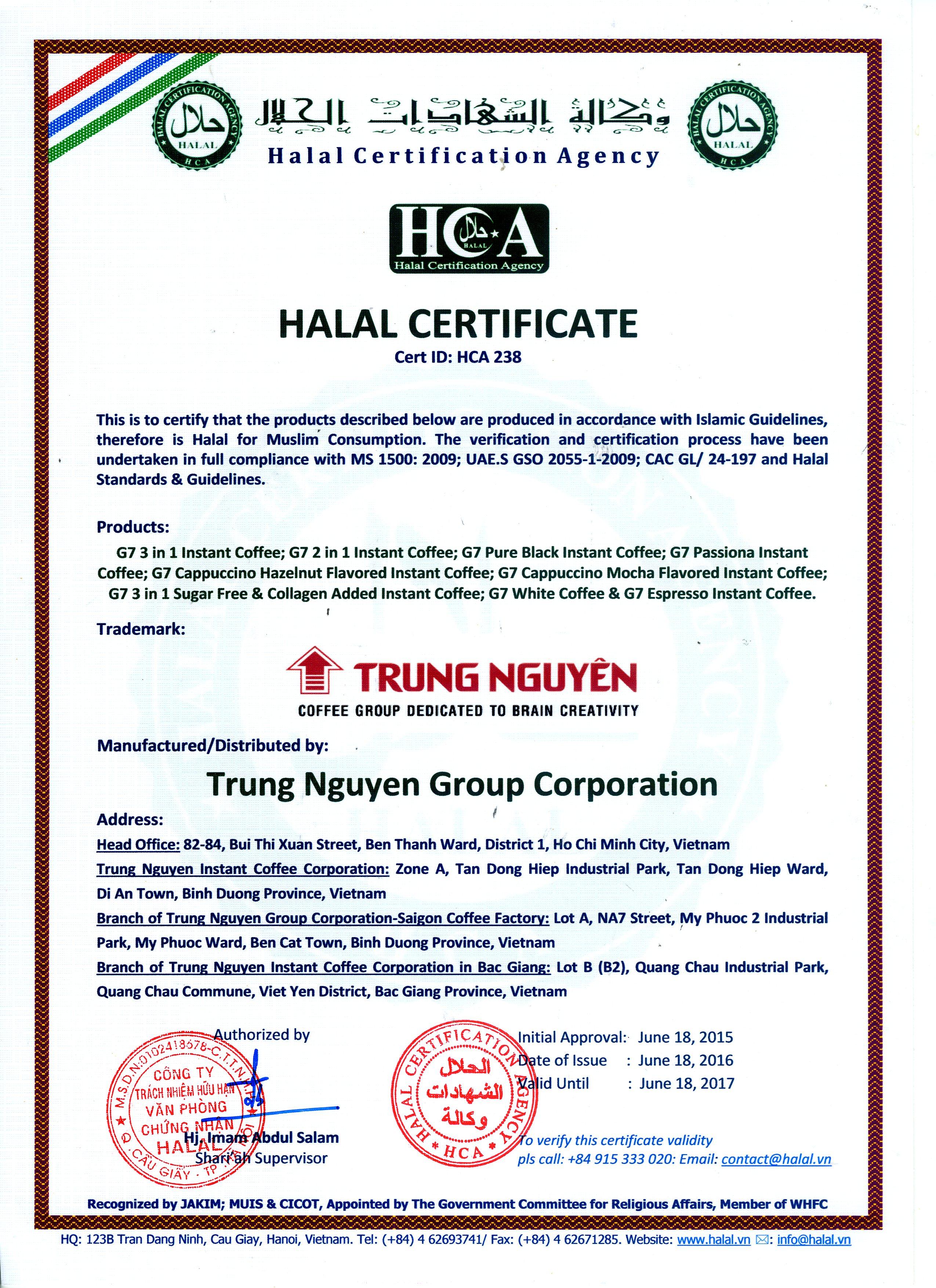Chung nhan Halal