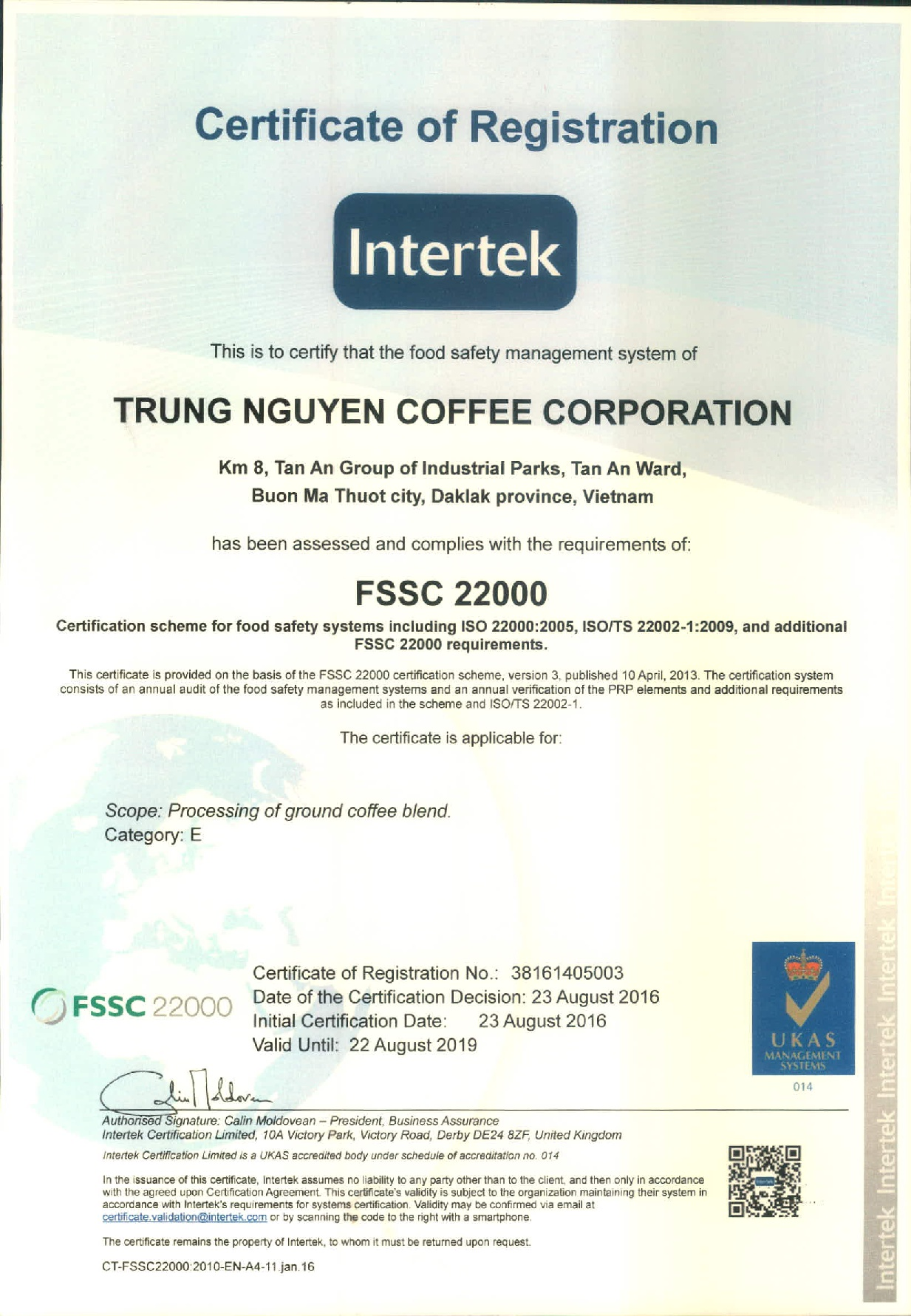 Scan - 38161405003TRUNG NGUYEN COFFEE CORPORATION