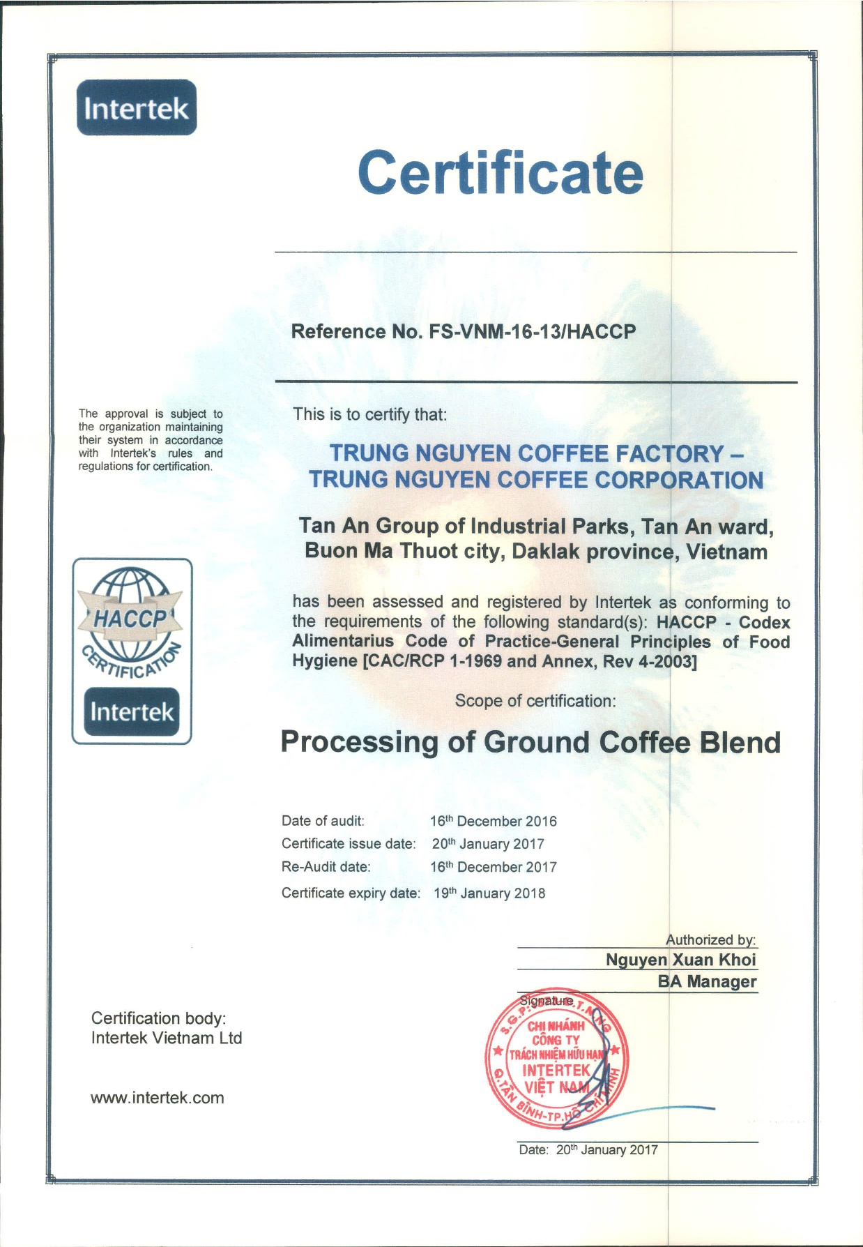 Scan HACCP CERTIFICATE-001